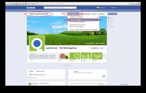 Facebook Administrationsaufgaben