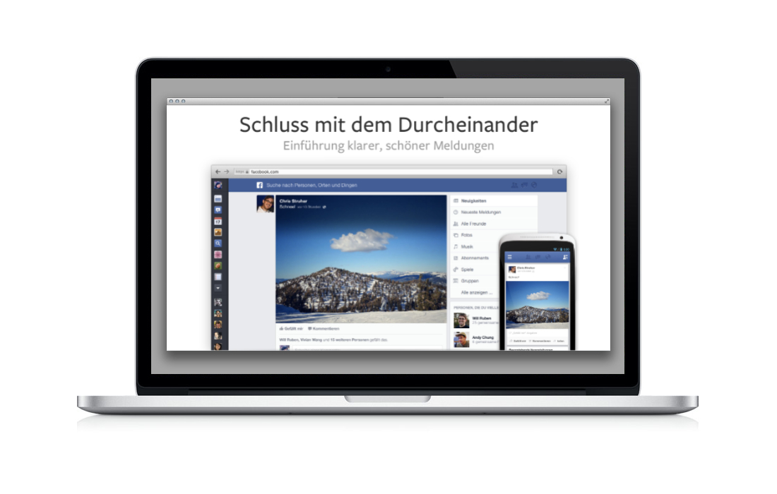 Der neue Facebook Newsstream